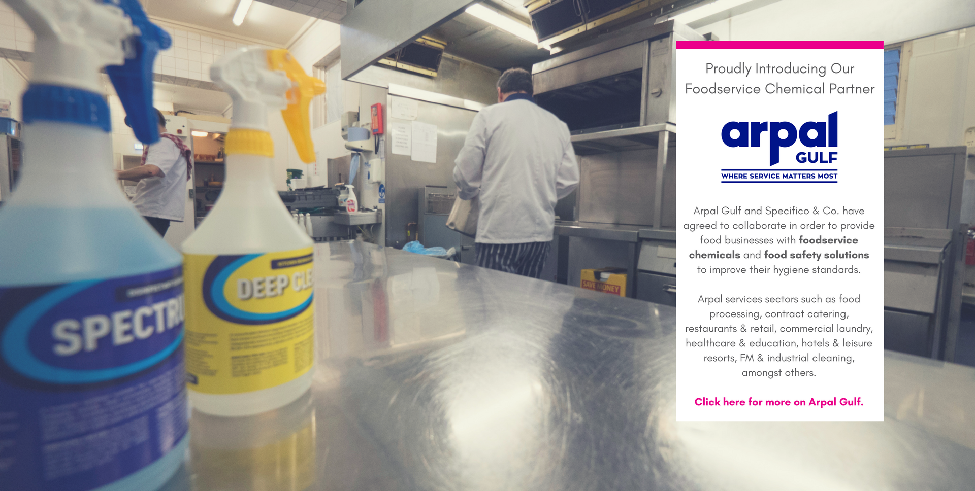 Complete food safety solutions provider in the Middle East